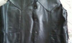 $75 Mens Leather Motorcycle Vest