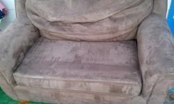 $75 OBO Brown Suede Hide-a-Bed Couch