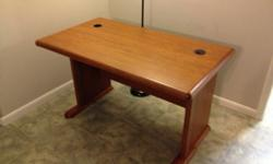 $75 OBO Nice Solid Wood Desk at a Great Price