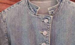 $75 One of A Kind & So Lovely Woman's Blue Jean Jacket -