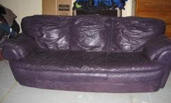$75 Used Natuzzi Purple Leather Couch