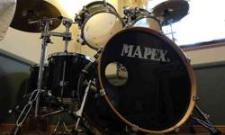 $795 Complete Mapex M Birch drum set with Meinl cymbals