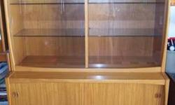 $795 Danish Teak Credenza,,2 Pc,,Top Beautiful Show