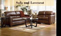 $799 Durablend Bark Sofa and Loveseat