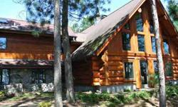 799 Leatzow Rd Three Lakes Four BR, This full log home was
