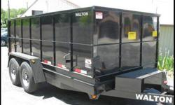 $7,598 Heavy Duty Walton Dump Trailer 44''Tall Sided 14'
