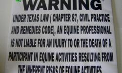 $7 Liability law sign for Texas