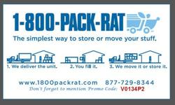 800-PACKRAT Moving and Storage -Save NOW