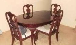 $800 Cherry Dining Room Set