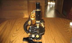 $800 microscope spencer 1932 with case