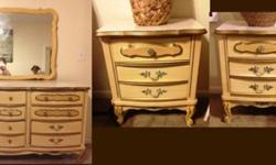 $800 OBO Vintage Original Wooden Dresser and Nightstands