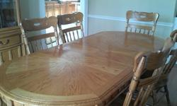 $800 Solid Oak Dining Suite