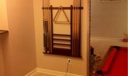 $80 Billiards pool stick wall mounted rack