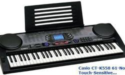 $80 Casio CTK-558 61-Note Touch-Sensitive Portable