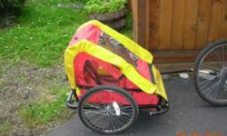 $80 Cycle Pro Yellow and red Child x2 BikeTrailer (Near