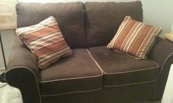 $80 Love seat (choclate brown)