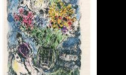 $80 Night Bouquet- Chagall - Limited Edition on Canvas