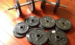$80 OBO Dumbbells Adjustable weight