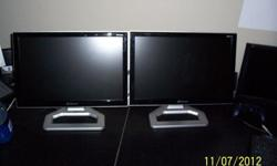 "$80 Pair of 17"" HD 720p WIDESCREEN LCDs"