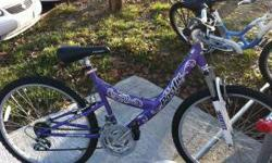 $80 pretty purple mountain bike for sale