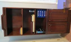 $80 REDUCED solid wood cherry finish bookcase with shelves