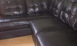"$825 Bassett ""mercer"" leather sectional/3yrs old"