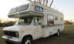 84 motorhome 25 ft, waiting 2 go fishing, camping, hunting,