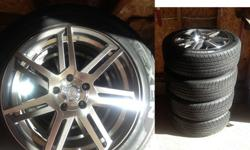 "$850 OBO 18"" Enkei Rims & tires (4 rims & 4 tires) SET"