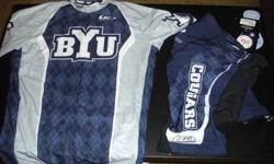 $85 BYU Cycling Jersey and Shorts by Louis Garneau (Never
