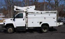8632 - 2007 Gmc C5500 4x4; Altec 37' Bucket Utility Body