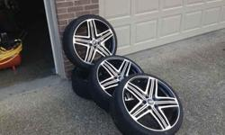 $875 20'' rims, black and crome menzari (oklona, fairdale )