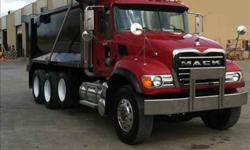 $88,000 Used 2007 Mack Granite tri axle dump for sale.