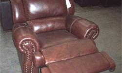$899 New Thomasville Chocolate Brown Leather Recliner