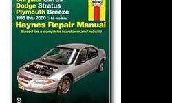 $8 Chrysler Car Repair Manual for Dodge Stratus and Plymouth