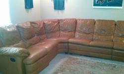 $900 OBO Large Leather Sectional Sofa