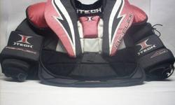 $90 Like New Itech Re-Flex RX5 Jr Large Hockey Goalie Chest