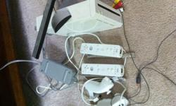 $90 OBO Wii system with wii talk 2 controllers+nunchucks