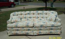 $90 Reduced to $ 80.00 Floral Button Back Sofa