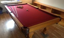 $950 Slate Top Pool Table 8'