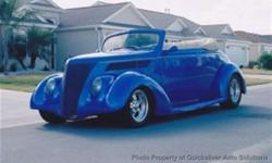 $95,000 Used 1937 Ford Club Cab All Steel Convertible, 7,000