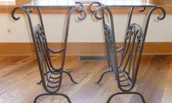 $95 Wrought Iron Tables Set of 2