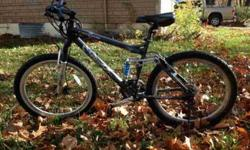 "$98 Blue 26"", 24 speed mountain bicycle for sale"