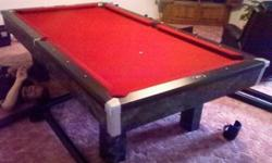 $995 8' Black Marble Pool Table by Brunswick
