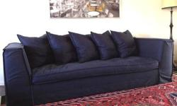 $995 Must Sell - designer linen, down stuffed sofa!