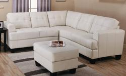 $999 White LEATHER Sectional SALE! Sofa Sectional on SALE!