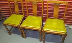 $99 Set of 3 Antique Oak Dining Room Chairs
