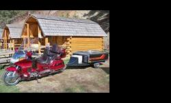 $9,500 1995 Honda Gold Wing SE and Time Out Trailer