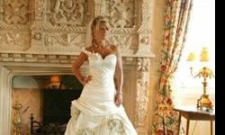 $9,500 Glamorous exquisitely beautiful wedding gown adorned