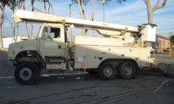 $9,900 1999 Freightliner FL-80 with Altec AM 855 double man