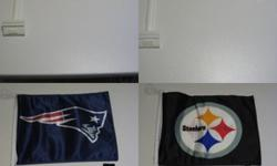 a 2 pack of Official NFL car flags